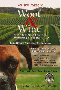 Woof and Wine- Don't forget